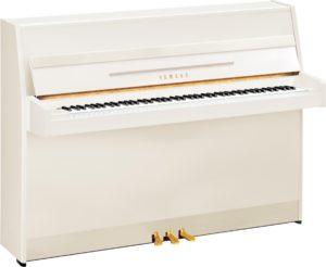 Yamaha B1 Polished White Upright Piano