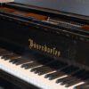 polished black Bosendorfer 214VC grand piano keyboard