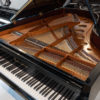 polished black Bosendorfer 214VC grand piano interior