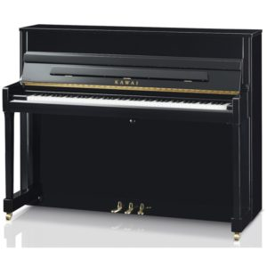 New Kawai K200 Upright Piano in black/gold
