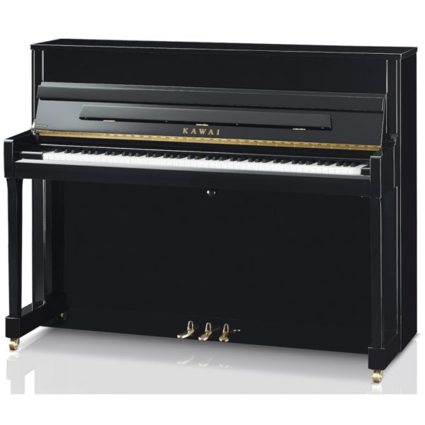 New Kawai K200 Upright Piano in black/gold