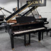 polished black Yamaha C1X SH2 silent grand piano