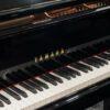 polished black Yamaha C1X SH2 silent grand piano keyboard