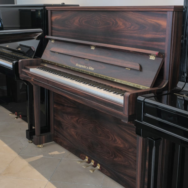 New Steingraber 130 upright piano satin rosewood