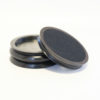 Large piano castor cups black