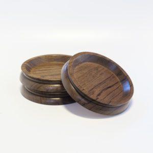 Large Wooden Castor Cups Laurel