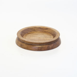 Medium Wooden Castor Cup Laurel