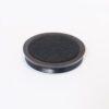 Medium Wooden Castor Cups Black