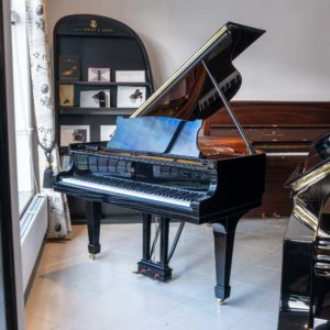 Steinway model S polished black