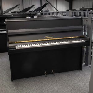 satin charcoal bluthner upright piano whole piano