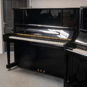 polished black kawai K-6 upright piano whole piano