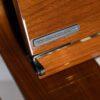 walnut finished kawai K2 upright piano detail
