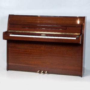 polished mahogany kemble upright piano whole piano