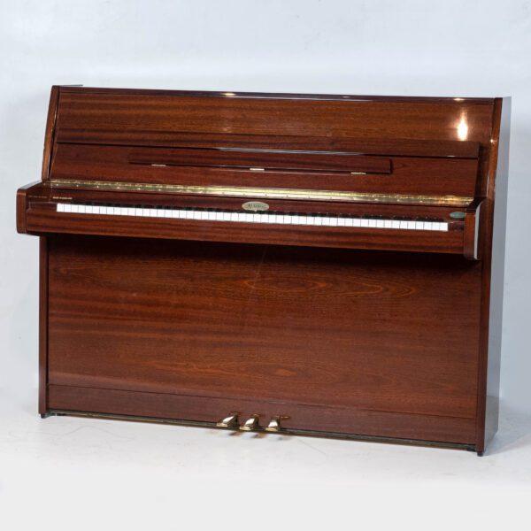 polished mahogany kemble upright piano whole piano