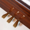 polished mahogany kemble upright piano 3 pedals