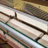 polished mahogany kemble upright piano interior