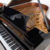polished black steinway & sons model a grand piano interior