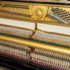 polished black yamaha u1 upright piano interior