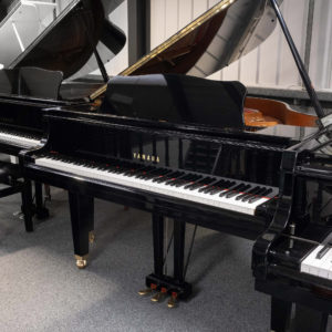 polished black Yamaha GB1 baby grand piano whole piano