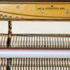 polished mahogany zimmerman upright piano interior