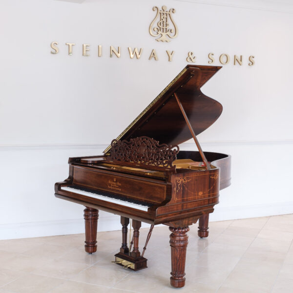 Steinway Model A in Satin Rosewood with Inlay