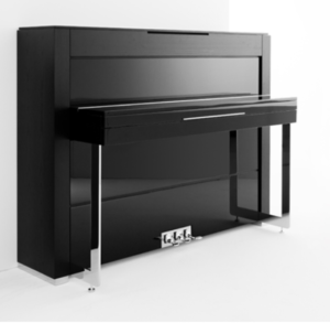 Accento upright piano in Black