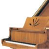 Queen anne cherry satin grand piano close up