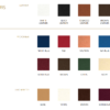Europa Piano Stool Seat Colour Options